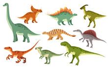 Cartoon Dinosaur Set. Cute Din...