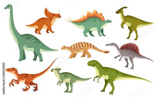 Leinwand Poster Cartoon dinosaur set