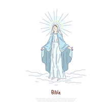 Virgin Mary, Holy Woman Prayin...