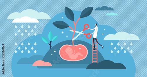 Abortion vector illustration Wallpaper Mural