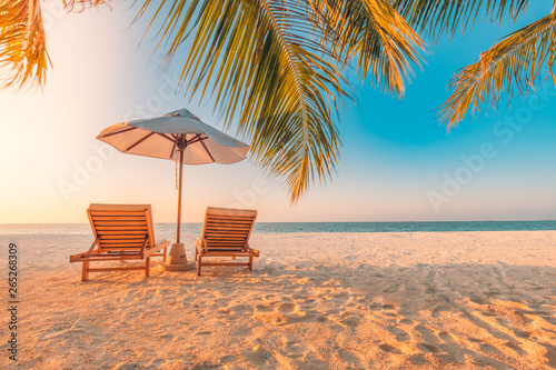 Fotografering  Beautiful tropical beach banner