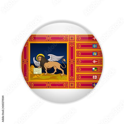 Fotografie, Obraz Flag of Veneto button