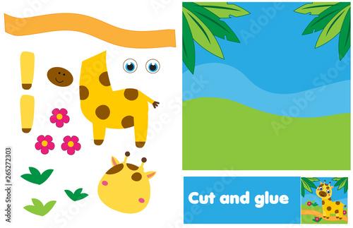 Cut and paste children educational game Wallpaper Mural