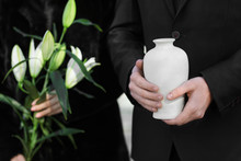 Couple With Mortuary Urn And F...