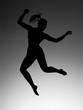 athletic jumping girl studio shot