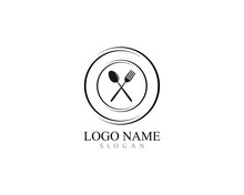 Fork And Spoon Logo Template