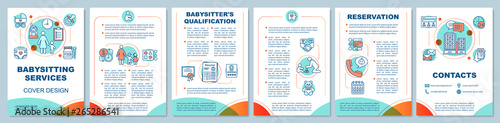 Photo Babysitting services brochure template layout
