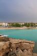 Nissi Beach in Ayia Napa, Cyprus, Mediterranean Sea. Sea beach relax, outdoor travel