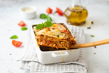 Tasty Lasagne With Meat, Chees...