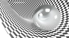 Abstract Checker Curved Geomet...