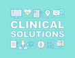 Clinical solutions word concepts banner