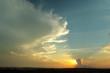 Arte natural no céu do pôr-do-sol