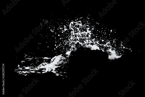 Canvas-taulu Water Splash Isolated On The Black background