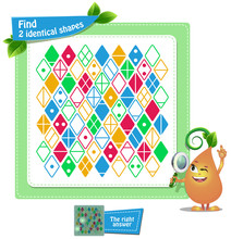 Find 2 Identical Shapes Game Adults