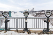 Coin Operated Binoculars At Niagara Falls, Buffalo, New York State