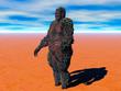canvas print picture - massiges Monster in der Wüste