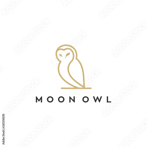 Recess Fitting Owls cartoon owl line illustration logo design