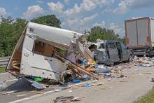 Camping Trailer Traffic Accident