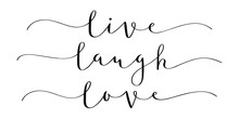 LIVE LAUGH LOVE Brush Calligraphy Banner