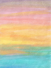 Abstract Sunset Watercolor Bac...