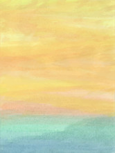 Abstract Watercolor Background With Sky And Clouds