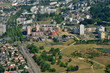 Leinwanddruck Bild Les Mureaux, France - july 7 2017 : aerial picture of the town