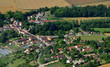 Leinwanddruck Bild Sailly, France - july 7 2017 : aerial picture of the village