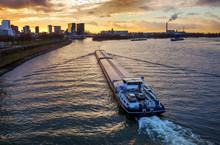 Sonnenuntergang Am Rhein In D