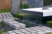 The Contemporary Water Feature In The East Meets West Garden