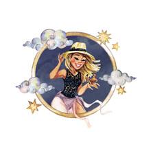 Cancer - Zodiac Symbol. Waterc...