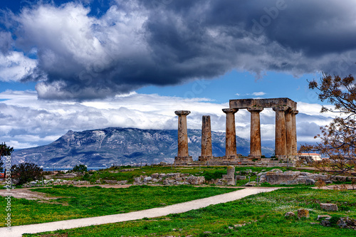 Fotografie, Obraz The Temple of Ancient Corinth, Greece.