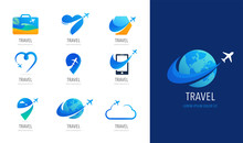 Travel, Tourism Agency Logo Design, Icons And Symbols
