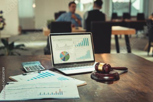 Slika na platnu Court of Justice Law and Rule Concept, Judge's Gavel for Adjudicate Justness Lawsuit