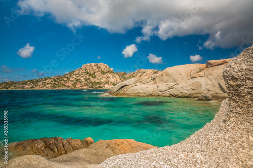 Fotobehang Canarische Eilanden La Maddalena Archipelago National Park, on the coast of Sardinia province of Sassari, northern Sardinia, Italy.