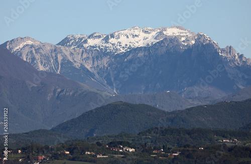 Fotografie, Obraz  range mountains called Gruppo del CAREGA in Northern Italy