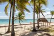 Tropical destination for vacation. Paradise beaches at Cancun, Mexico. Caribbean coast. Yucatan Peninsula