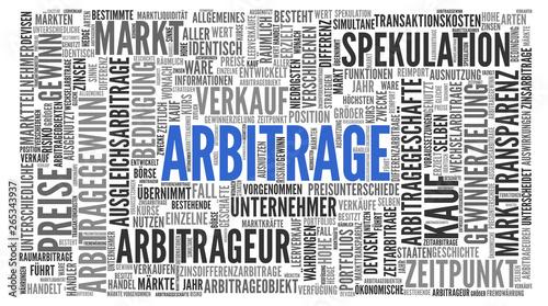 Arbitrage - Stichwortwolke Fototapete