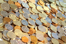 A Lot Of Shiny Russian Coins O...