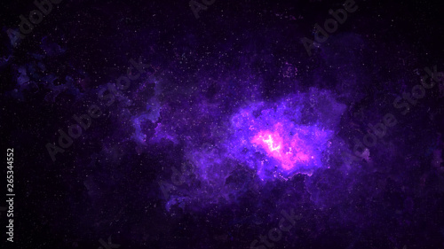 Foto op Aluminium Heelal Universe filled with stars, deep space nebula and galaxy