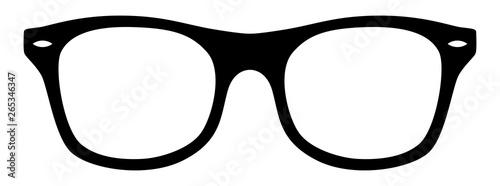 Fototapeta Nerd-Brille / schwarz-weiß / Vektor / freigestellt