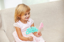 Happy Little Girl On Her Birthday