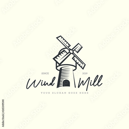 Windmill logo Canvas Print