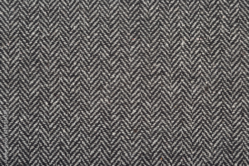 Recess Fitting Fabric Herringbone tweed wool fabric as background