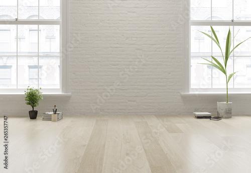 Fototapeta Interior empty room 3D rendering obraz