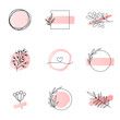 Floral logo templates feminine style