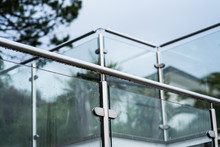 Metal Railings And Glass Wall ...