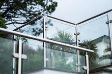 Metal Railings And Glass Wall ...