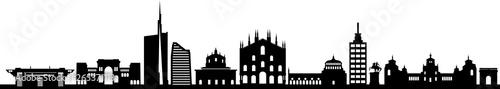 Photo Mailand City Skyline Silhouette