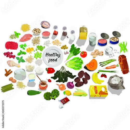 Canvastavla alimentos frescos