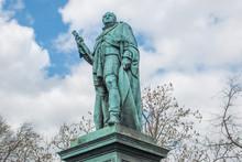 Statue Of Frederick Duke Of York And Albany On The Edinburgh Castle Esplanade Edinburgh Scotland